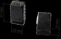 Графитовые щетки для УШМ (болгарок) Bosch моделей PWS 750-115, PWS 750-125